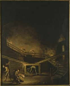 Falcon Steps at the Falun Copper Mine | Pehr Hilleström | Oil Painting