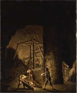 Gallery in Falun Copper Mine | Pehr Hilleström | Oil Painting