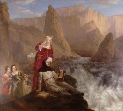 Laure et Petrarque a la Fontaine de Vaucluse | Philippe-Jacques van Bree | Oil Painting