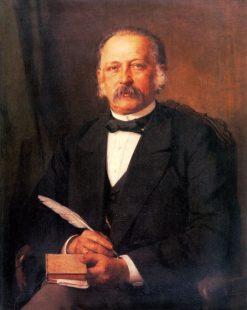Theodor Fontane   Carl Breitbach   Oil Painting
