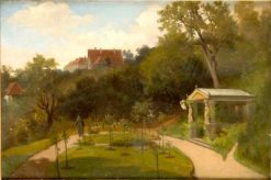Park with a Classical Pavilion | Carl Breitbach | Oil Painting