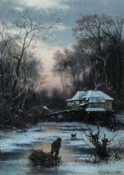 Winter Evening | Carl Breitbach | Oil Painting
