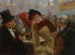 Suzanne et les Vieux Messieurs | Andre Brouillet | Oil Painting