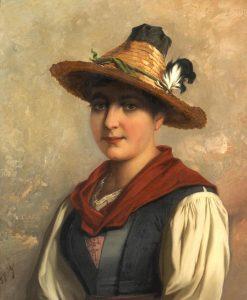 Portrait of a Tyrolean Woman   Josef Buche   Oil Painting