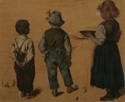 Children   Josef Buche   Oil Painting