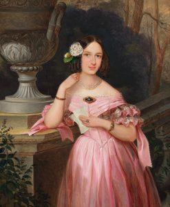 Portrait of a Young Woman | Johann Böss | Oil Painting