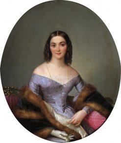Portrait of a Lady | Felice Schiavoni | Oil Painting