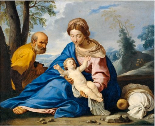 Rest on the Flight into Egypt | Simone Cantarini | Oil Painting