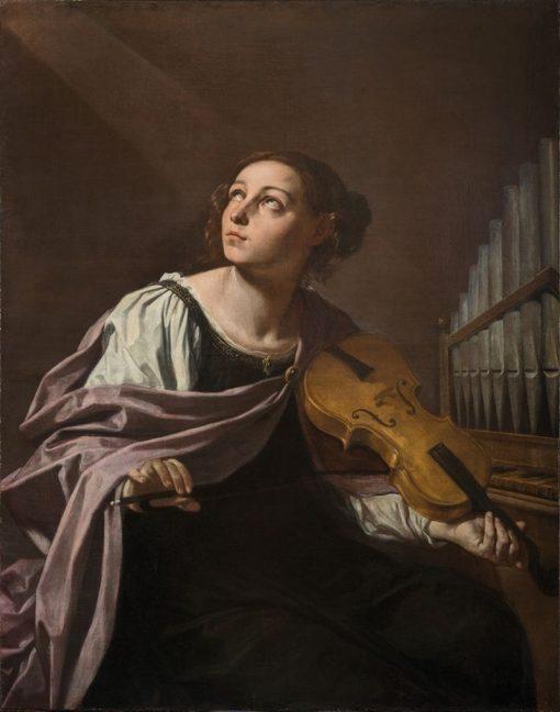 Saint Cecilia   Simone Cantarini   Oil Painting