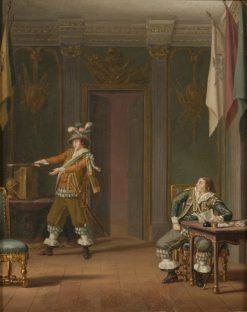 Gustaf Mauritz Armfelt and Carl Adam Wrangel af Adinal | Pehr Hilleström | Oil Painting