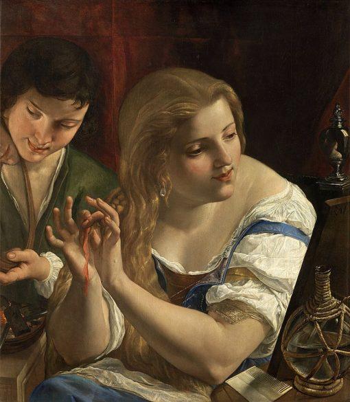 Allegory of Vanity   Angelo Caroselli   Oil Painting
