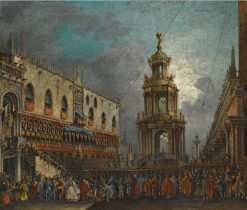 Venice. A View of Piazetta at Carnival | Francesco Zanin | Oil Painting