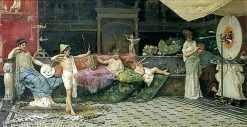 Roman Children at Indoor Archery | Vincente Capobianchi | Oil Painting