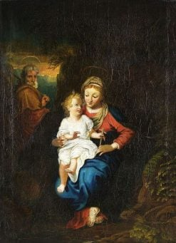 The Holy Family | Louis Anton Gottlob Castelli | Oil Painting