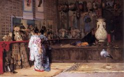 At the Japanese Market | Edouard Castres | Oil Painting