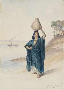 The Water Carrier on the Bank of the Nile | Edouard Castres | Oil Painting