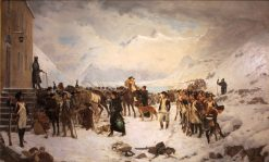 Napoleon Crossing the Great St Bernard Pass | Edouard Castres | Oil Painting