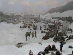 Army of Bourbaki in Switzerland in 1871 | Edouard Castres | Oil Painting