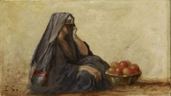 A Young Arab Woman | Edouard Castres | Oil Painting