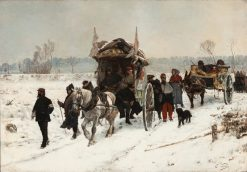 Convoy of Wounded.Franco-Prussian War | Edouard Castres | Oil Painting