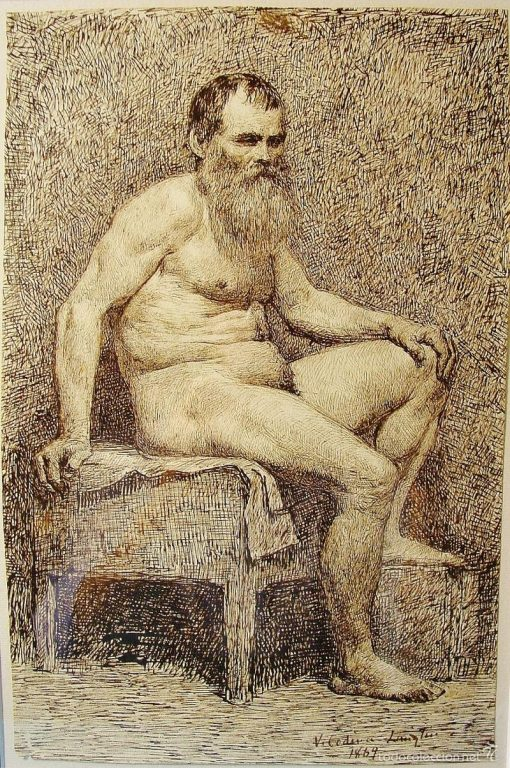 Male Nude | Victoriano Codina y Langlin | Oil Painting
