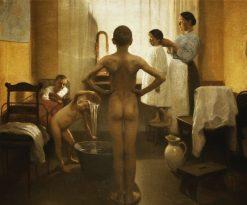 Saturday Bath | Carl Vilhelm Meyer | Oil Painting