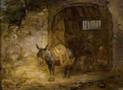 Saddled Donkey | Alexander Laureus | Oil Painting