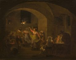 Dancing scene in an Italian Inn | Alexander Laureus | Oil Painting