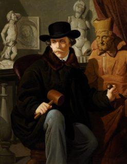 Portrait of Sculptor Gabriel Astorga y Miranda | Victor Joseph Chavet | Oil Painting