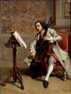 Cellist | Victor Joseph Chavet | Oil Painting