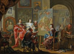 In the Painters Studio | Johann Georg Platzer | Oil Painting