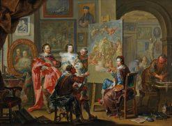 In the Painters Studio | Johann Georg Platzer | Oil Painting