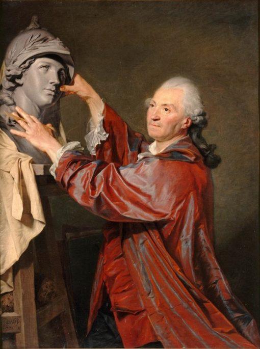 Portrait of Sculptor Louis-Claude Vasse | Etienne Aubry | Oil Painting
