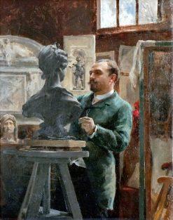 Sculptor Alphonse-Amedee Cordonnier | Julian Russell Story | Oil Painting