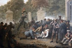 Scene of the Belgian Revolution | Constantinus Fidelio Coene | Oil Painting