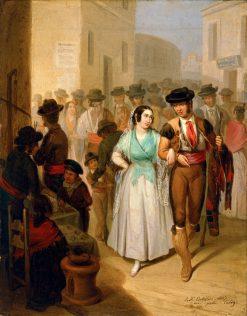 Leaving the Bullring | Angel María Cortellini Hernández | Oil Painting