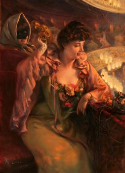 Revellers at the Theatre | Manuel Cusi y Ferret | Oil Painting