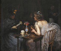 Women Reading | Manuel Cusi y Ferret | Oil Painting