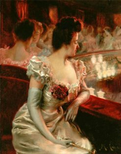 At the Theater | Manuel Cusi y Ferret | Oil Painting