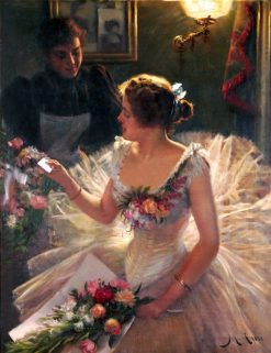 The Letter | Manuel Cusi y Ferret | Oil Painting