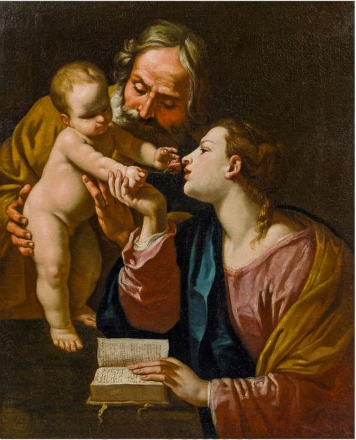 The Holy Family   Simone Cantarini   Oil Painting