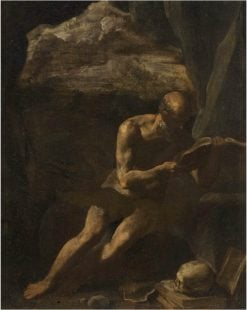 Saint Jerome in the Desert | Simone Cantarini | Oil Painting