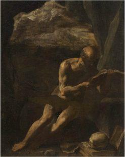 Saint Jerome in the Desert | Simone Cantarini | Oil Painting
