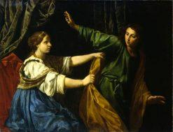 Joseph and Potiphars Wife | Simone Cantarini | Oil Painting