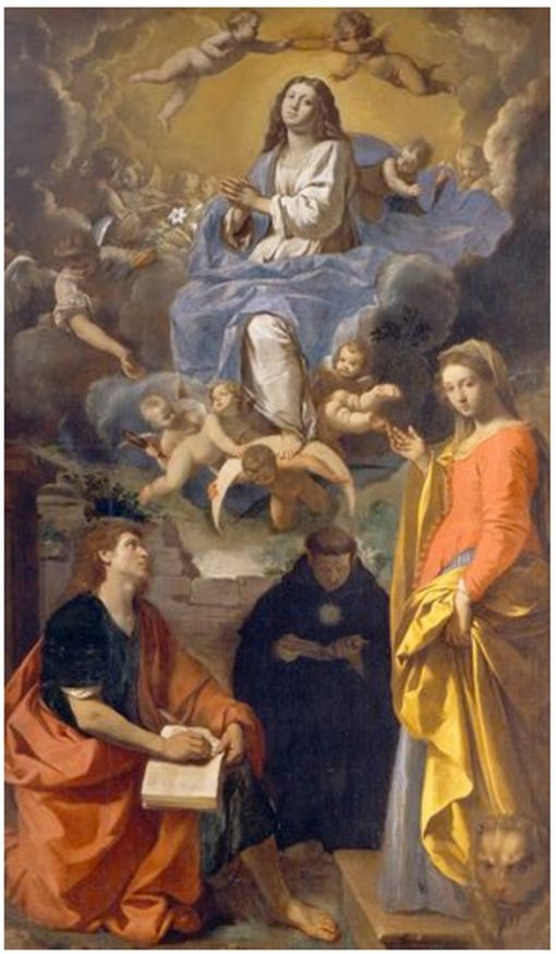 Virgin in glory and Saints John the Evangelist