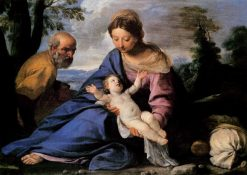 The Rest on The Flight into Egypt | Simone Cantarini | Oil Painting