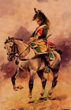 French Dragoon | Josep Cusachs | Oil Painting