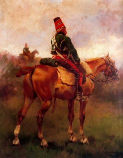 French Hussar   Josep Cusachs   Oil Painting
