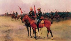 Maneuvers of Lancers | Josep Cusachs | Oil Painting
