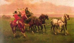 Back from Hunting   Josep Cusachs   Oil Painting